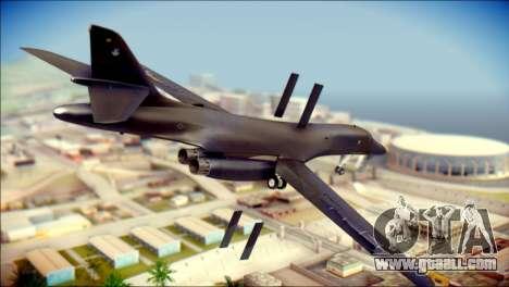 B-1B Lancer Camo Texture for GTA San Andreas left view