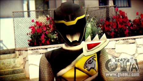 Power Rangers Kyoryu Black Skin for GTA San Andreas third screenshot