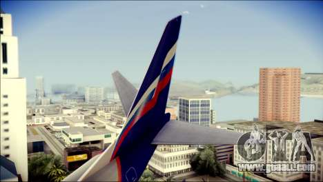 Boeing 737-800 Aeroflot for GTA San Andreas back left view