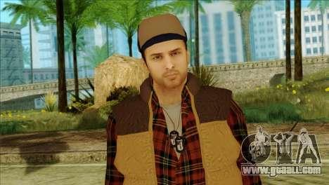 Big Rig Alex Shepherd Skin without Flashlight for GTA San Andreas third screenshot