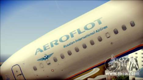 Boeing 737-800 Aeroflot for GTA San Andreas back view