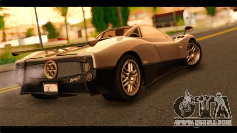 Pagani Zonda F for GTA San Andreas left view