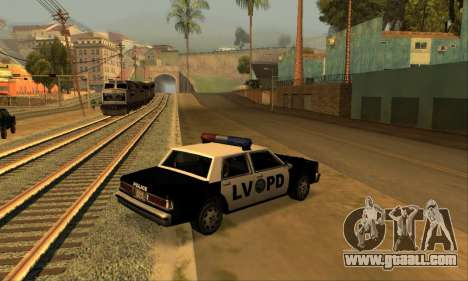 Beta LVPD Police for GTA San Andreas left view