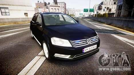 Volkswagen Passat B7 Police 2015 [ELS] unmarked for GTA 4