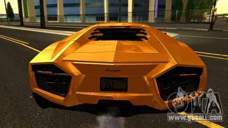 Lamborghini Reventon 2008 for GTA San Andreas side view