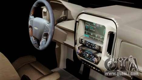 Chevrolet Silverado 2014 LTZ for GTA San Andreas right view