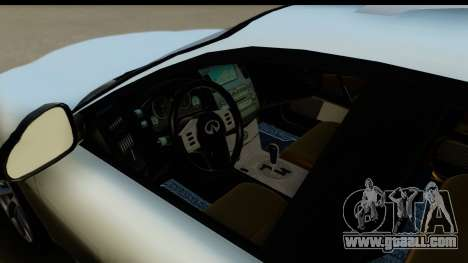 Infiniti FX 45 2007 for GTA San Andreas back view