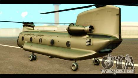 CH-47 Chinook for GTA San Andreas left view