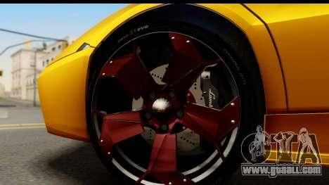 Lamborghini Reventon 2008 for GTA San Andreas back view