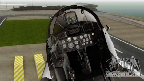 MIG-29A Polish Air Force Kosynierzy for GTA San Andreas back view