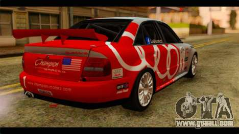 Audi S4 B5 2002 Champion Racing for GTA San Andreas left view