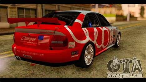 Audi S4 B5 2002 Champion Racing for GTA San Andreas left view
