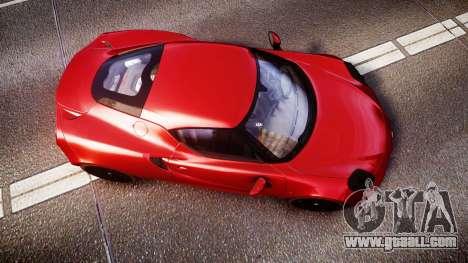 Alfa Romeo 4C 2014 for GTA 4 right view