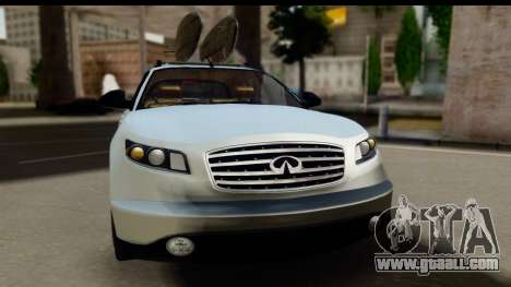 Infiniti FX 45 2007 for GTA San Andreas back left view