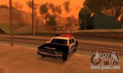 Beta LVPD Police for GTA San Andreas inner view