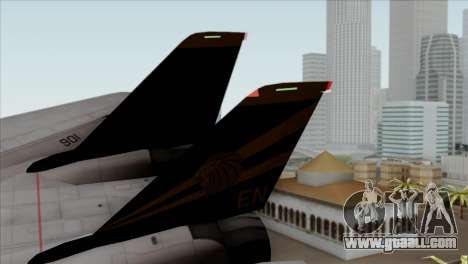 Grumman F-14B VF-193 Lions for GTA San Andreas back left view