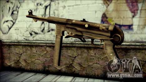 MP40 from Call of Duty World at War for GTA San Andreas second screenshot