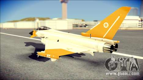 EF-2000 Typhoon  Federal Erusea Air Force for GTA San Andreas left view