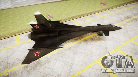 MiG-31 Fire Fox for GTA 4 left view