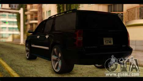 Chevrolet Suburban 2010 FBI for GTA San Andreas left view