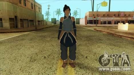 Korra Skin from The Legend Of Korra for GTA San Andreas