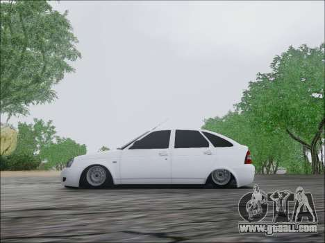 Lada Priora Hatchback for GTA San Andreas back view
