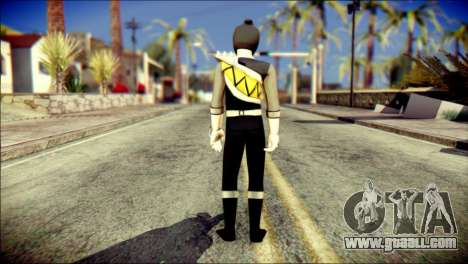 Power Rangers Kyoryu Black Skin for GTA San Andreas second screenshot