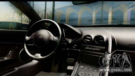 Lamborghini Reventon 2008 for GTA San Andreas inner view