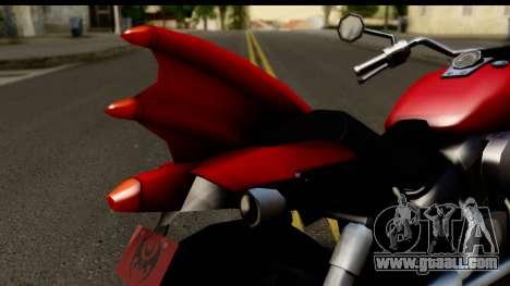 Honda Shadow 750 for GTA San Andreas back view