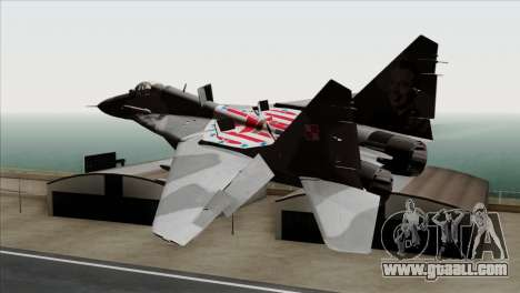 MIG-29A Polish Air Force Kosynierzy for GTA San Andreas left view
