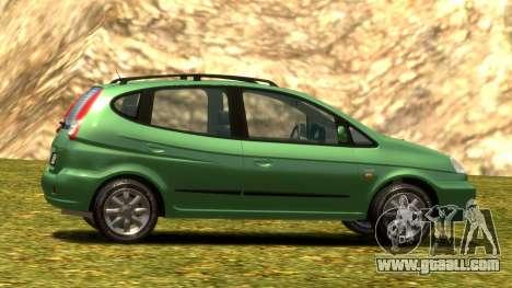 Daewoo Tacuma (Rezzo) CDX 2001 for GTA 4 bottom view