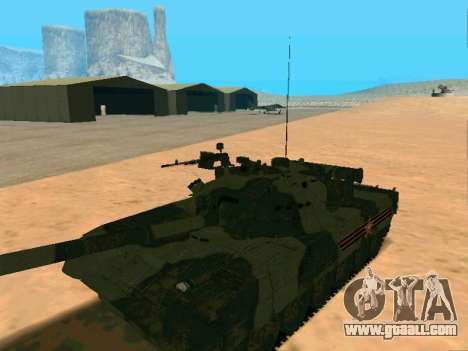 T-80U for GTA San Andreas back view