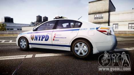 Nissan Altima Hybrid NYPD for GTA 4 left view