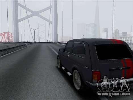 Lada Niva for GTA San Andreas inner view