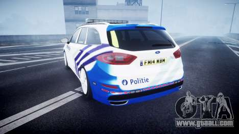 Ford Fusion Estate 2014 Belgian Police [ELS] for GTA 4 back left view