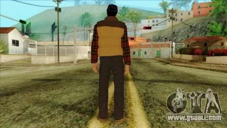 Big Rig Alex Shepherd Skin without Flashlight for GTA San Andreas second screenshot