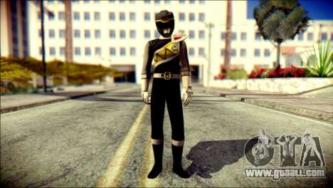 Power Rangers Kyoryu Black Skin for GTA San Andreas