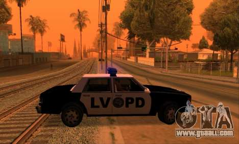 Beta LVPD Police for GTA San Andreas right view