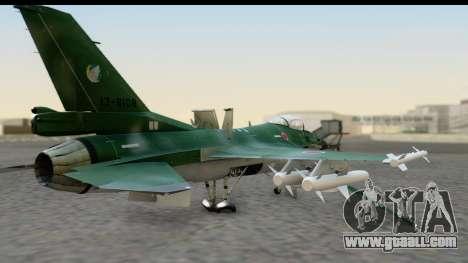 F-2A Zero Dark Green for GTA San Andreas left view
