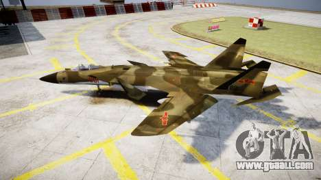 Su-47 Berkut forest for GTA 4 left view