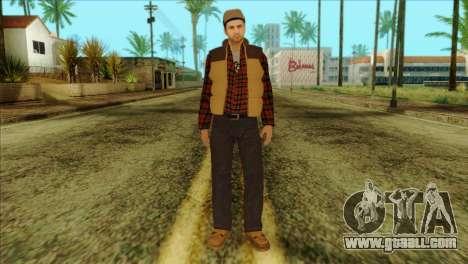 Big Rig Alex Shepherd Skin without Flashlight for GTA San Andreas