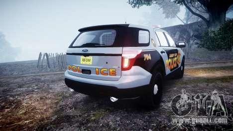 Ford Explorer Police Interceptor [ELS] marked for GTA 4 back left view
