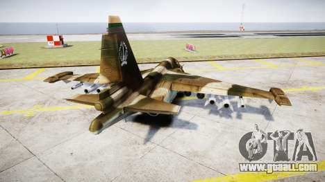 The su-39 for GTA 4 back left view