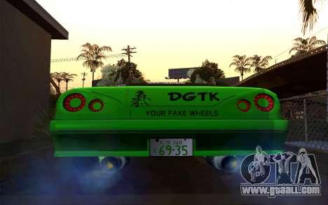 DGTK Elegy v1 for GTA San Andreas back left view
