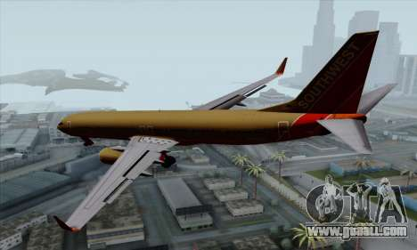 Boeing 737-800 Southwest Gold for GTA San Andreas left view