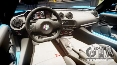 Alfa Romeo 4C 2014 for GTA 4 back view