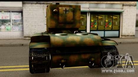 KV-2 German Captured for GTA San Andreas back left view