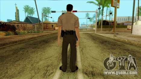 Depurty Alex Shepherd Skin without Flashlight for GTA San Andreas second screenshot
