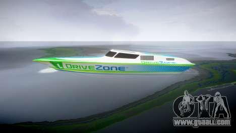 Motor boat for GTA 4 left view