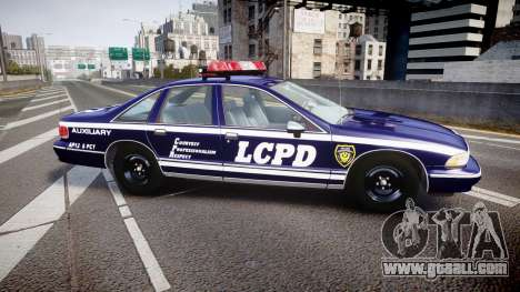 Chevrolet Caprice 1993 LCPD WoH Auxiliary [ELS] for GTA 4 left view